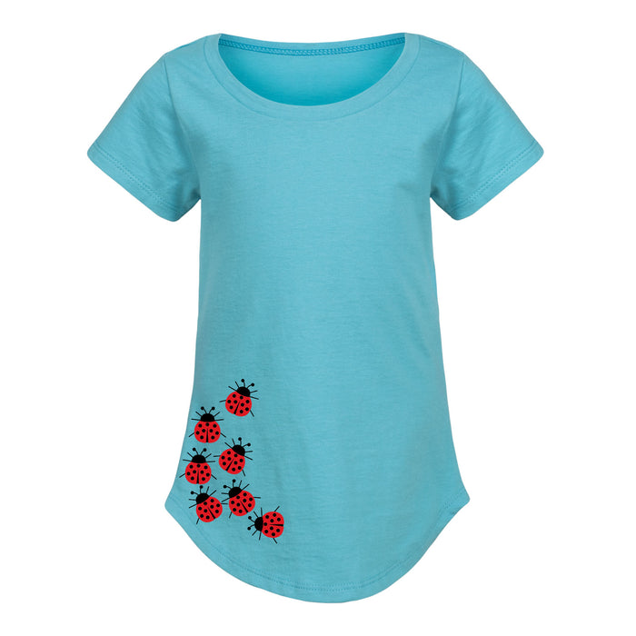 Toddler Girl Curved Hem T-Shirt