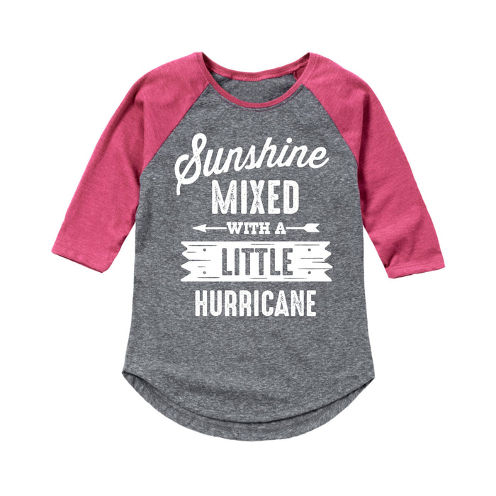 Sunshine Mixed Hurricane - Youth & Toddler Girls Raglan