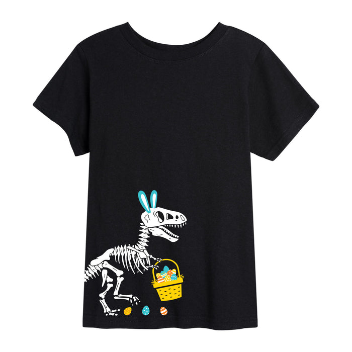 T-Rex Easter Skeleton - Youth Short Sleeve T-Shirt
