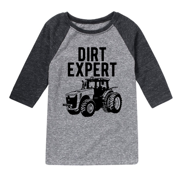 Dirt Expert Tractor - Youth & Toddler Raglan