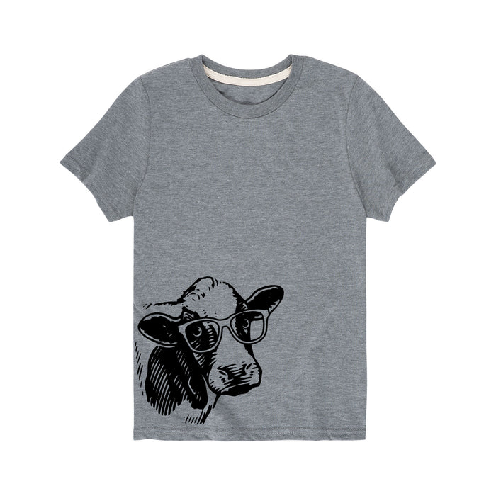 Cow In Glasses - Toddler Short Sleeve T-Shirt