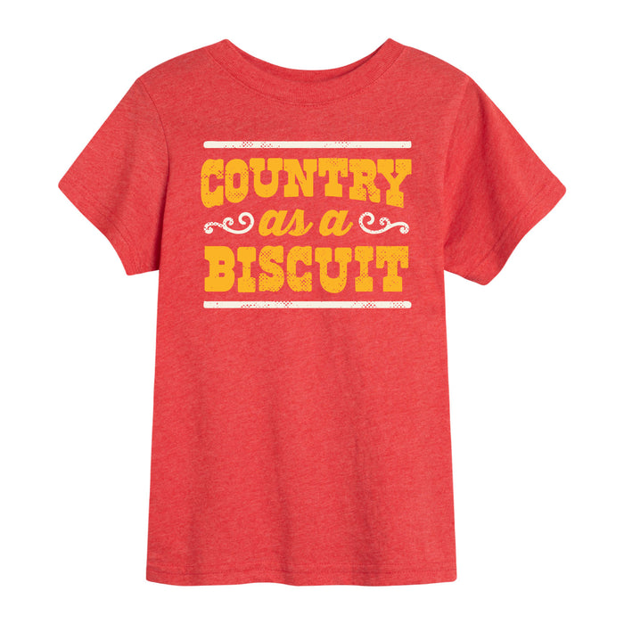 Country as a Biscuit - Toddler Short Sleeve T-Shirt