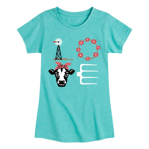 LOVE Cow - Youth & Toddler Girls Short Sleeve T-Shirt