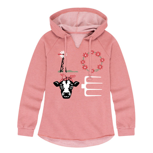 LOVE Cow - Women's Lightweight Hoodie