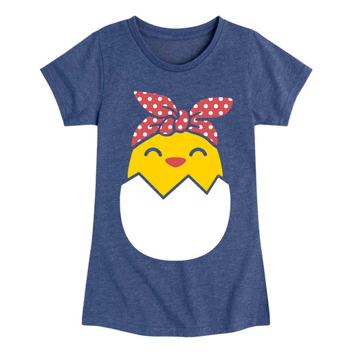 Hatching Chick Bandana - Youth & Toddler Girls Short Sleeve T-Shirt