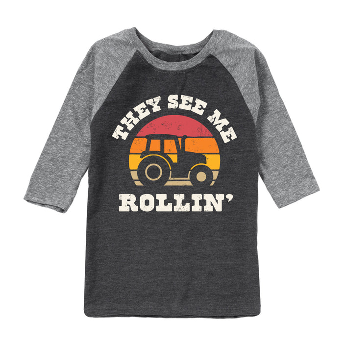 They See Me Rollin' - Youth & Toddler Raglan