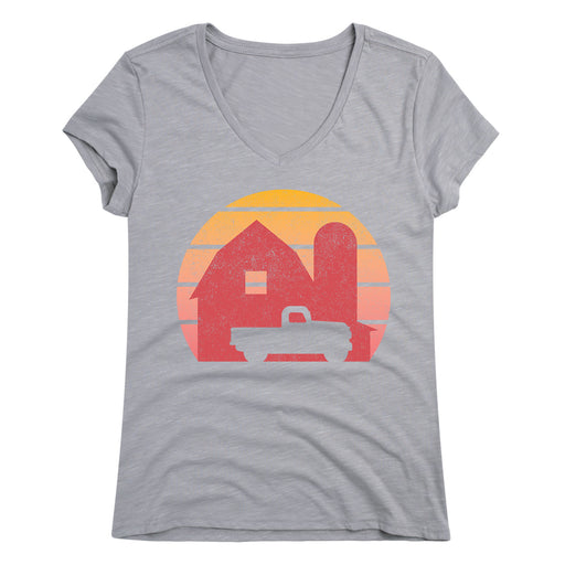 Barn Sunset - Women's Short Sleeve T-Shirt
