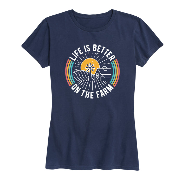 Life Is Better On The Farm - Women's Short Sleeve T-Shirt