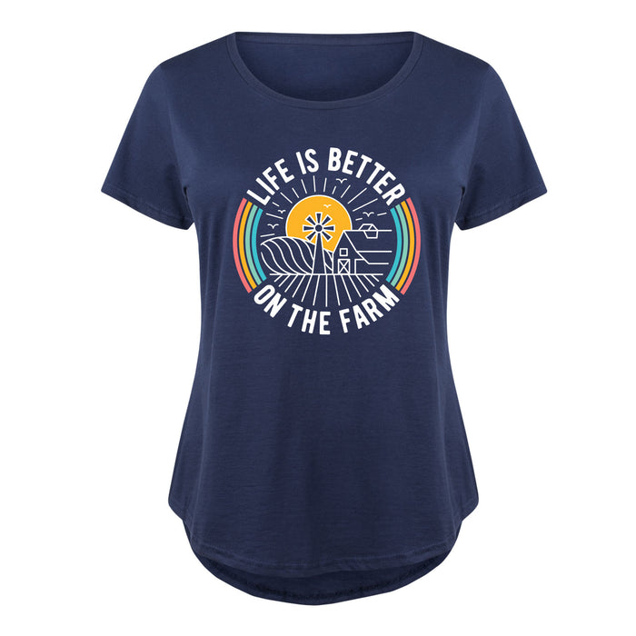 Life Is Better On The Farm - Women's Plus Size T-Shirt