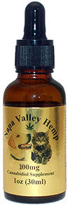 Napa Valley Hemp 100MG  CBD 1oz 30ml Drops for Pets