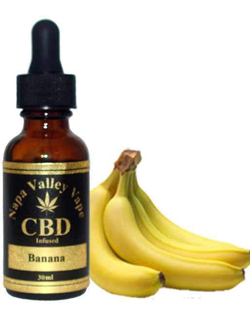 E Liquid vape 600mg CBD Hemp Stalk  e juice HempVap 30ml Banana