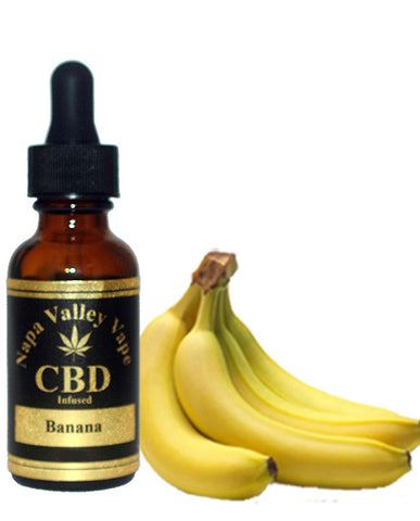 E Liquid vape 200mg CBD Hemp Stalk  e juice Hemp Vape 15ml Banana