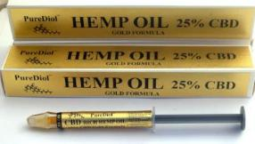PureDiol™  ORAL APPLICATOR 3G 25% GOLD  CBD Hemp Oil