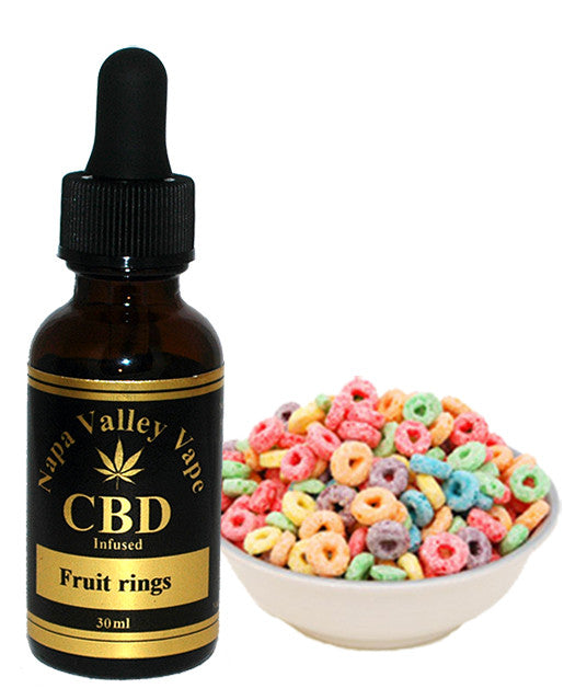 600mg CBD Hemp  Stalk E Liquid vape  e juice HempVap 30ml Fruity rings