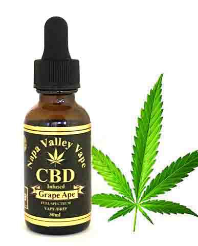 A Premium 1000mg 30ml CBD Hemp Stalk E Liquid with Strain Specific Organic Terpene Blend Grape Ape