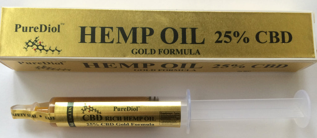 PureDiol™ ORAL APPLICATOR GOLD  10G 25% CBD Hemp Oil