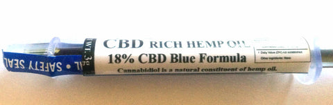 PureDiol™  ORAL APPLICATOR 3G BLUE 18%  CBD Hemp Oil