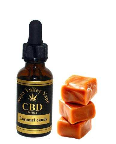 300mg CBD Hemp Stalk E Liquid vape e juice Hemp Vape 15ml Caramel candy