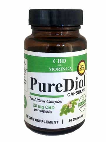 PureDiol™ HEMP CBD AND MORINGA CAPSULES 30 ct