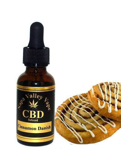 350mg  E Liquid vape CBD Hemp Stalk  e juice Hemp Vape 15ml Cinnamon danish