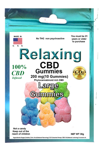 Edible Large Gummies 200mg 10 Hemp CBD gummies