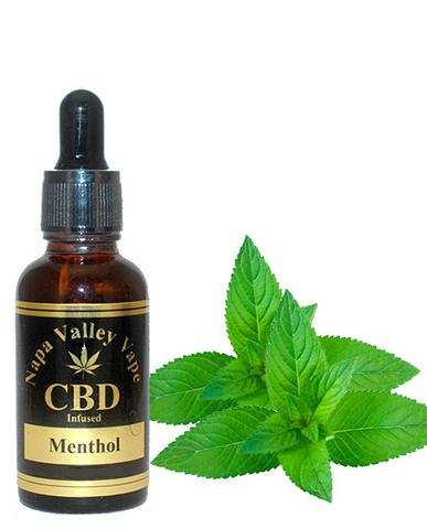 E Liquid vape 100mg CBD Hemp Stalk  e juice Hemp Vape 15ml Menthol
