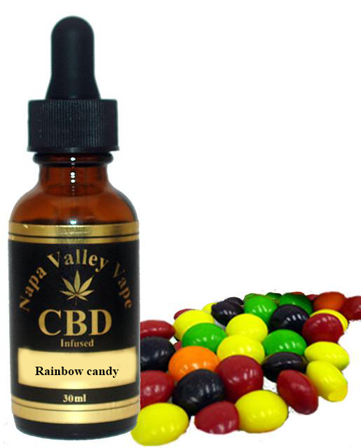 E Liquid vape 200mg CBD Hemp Stalk  e juice Hemp Vape 15ml Rainbow candy