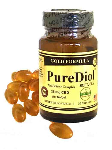 CBD SOFTJELS PureDiol CBD 30 ct Gold Formula
