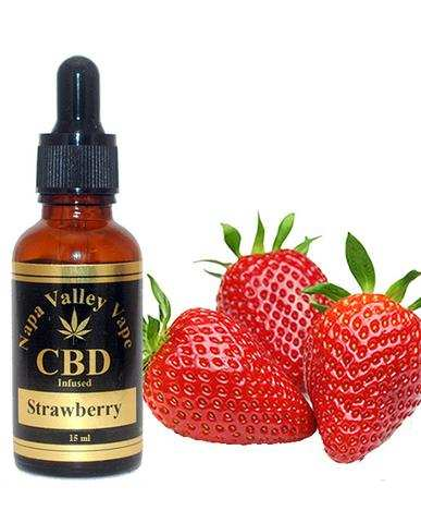 100mg CBD Hemp Stalk  e juice E Liquid vape Hemp Vape 15ml Strawberry