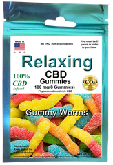 Edible  Gummies 100mg 8 Hemp CBD worm gummies