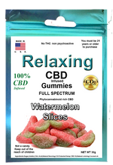 Edible 100mg 10 Hemp CBD Watermelon gummies