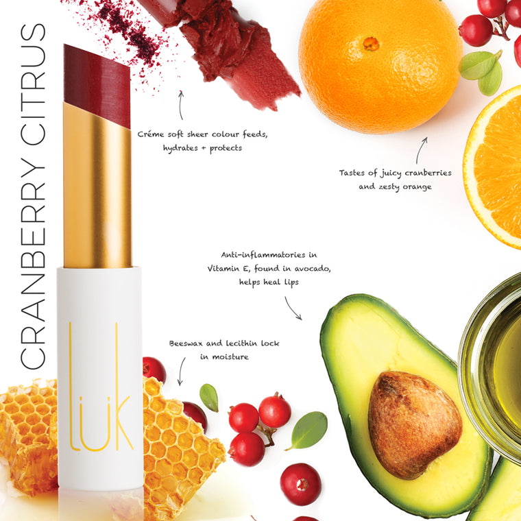 LÜK Lip Nourish - CRANBERRY CITRUS 亮麗鏽紅色(3g)