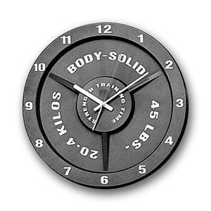 Body Solid Strength Clock, body solid clock, strength clock, body solid clocks, barbell clock, weight plate clock