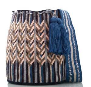 SUSU Oak Crossbody Mochila Blue