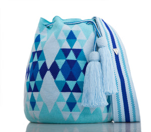 SUSU Brilliant Crossbody Mochila Blue