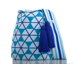 SUSU Star Crossbody Mochila Blue