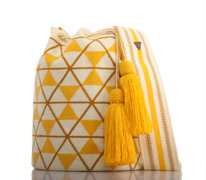 SUSU Star Crossbody Mochila Yellow
