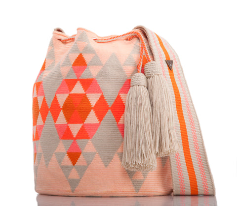 SUSU Brilliant Crossbody Mochila Orange
