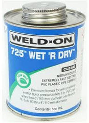 PVC Glue 118 ml WELD-ON® 725™ Wet 'R Dry