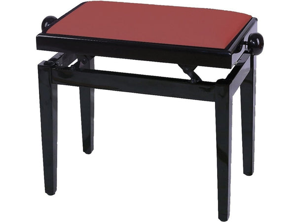 Chesterwood 2 Adjustable Piano Stool Mahogany Gloss - Dark Red Top