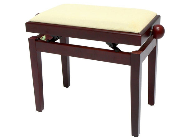Chesterwood 2 Adjustable Piano Stool Mahogany Silk - Beige Top