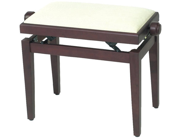 Chesterwood 2 Adjustable Piano Stool Rosewood Silk - Beige Top