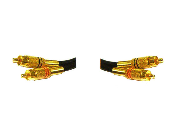 Gold Plated 2 Phono plugs to 2 phono plugs