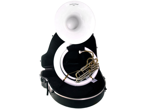 Arnold and Sons White Sousaphone..