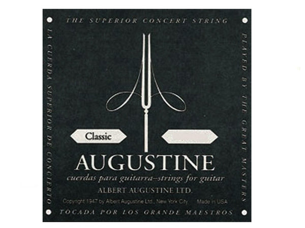 Augustine Black Classical Guitar Single String B 2nd