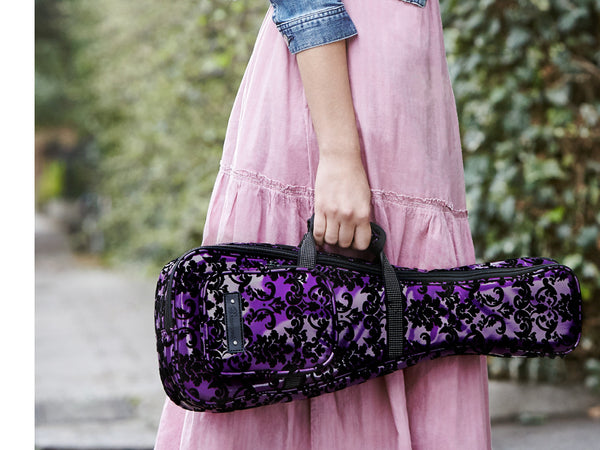 Beaumont Ukulele Case In Purple Lace