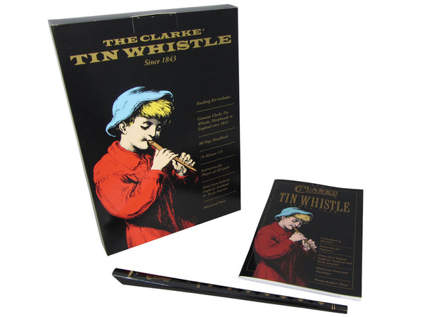 Clarke Original D Tin Whistle Pack with CD and Book