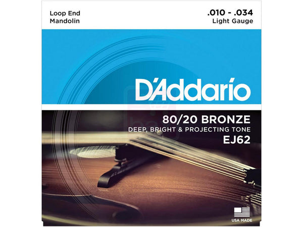 D'Addario EJ62 80/20 Bronze Light Mandolin Strings