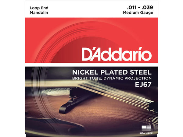 D'Addario EJ67 Nickel Medium Mandolin Strings