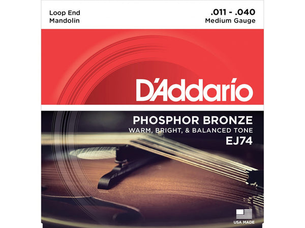 D'Addario Phosphor Bronze Mandolin Strings